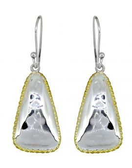 Solid 925 Sterling Silver Gold Plated Dangle Earrings Jewelry