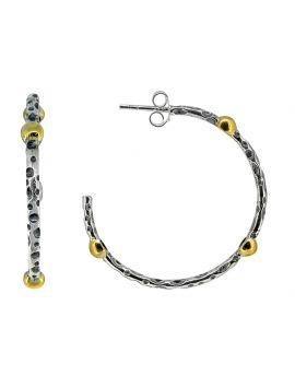 Solid 925 Sterling Silver Brass Dangle Earrings Jewelry