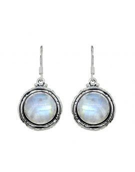 Moonstone Solid 925 Sterling Silver Dangle Earrings