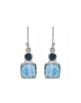 Larimar London Blue Topaz Gemstone Earrings