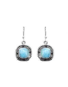 """1 1/2"""" Larimar Gemstone Earrings"""