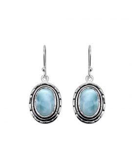 """1 3/4"""" Larimar Gemstone Earrings"""