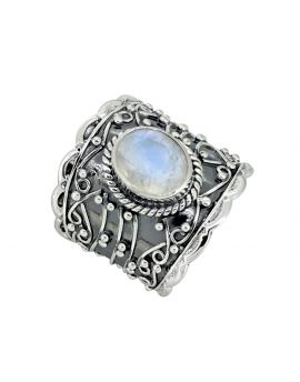 Moonstone Solid 925 Sterling Silver Ring