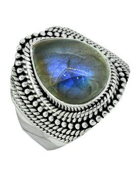 Labradorite Gemstone Solid 925 Sterling Silver Designer Ring