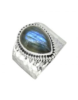 Labradorite Ring Solid 925 Sterling Silver Gemstone Jewelry
