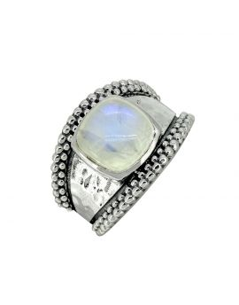 Moonstone Ring Solid 925 Sterling Silver Gemstone Jewelry