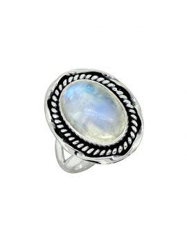 Moonstone Solid 925 Sterling Silver Gemstone Ring