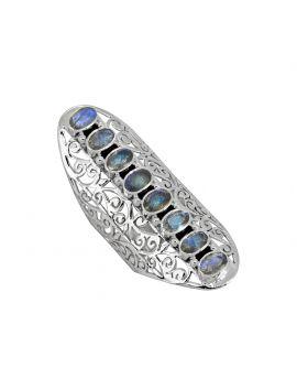 Labradorite Solid 925 Sterling Silver Designer Ring
