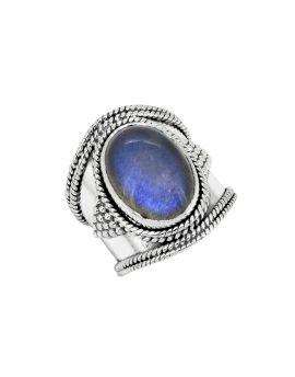 Labradorite Solid 925 Sterling Silver Gemstone Ring