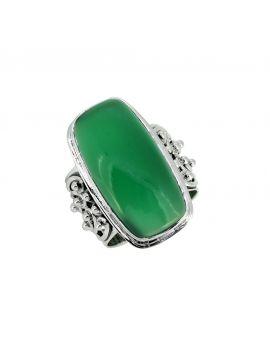 Green Onyx Solid 925 Sterling Silver Gemstone Ring