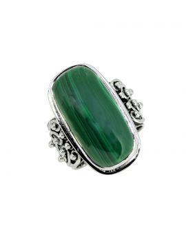 Malachite Solid 925 Sterling Silver Designer Gemstone Ring
