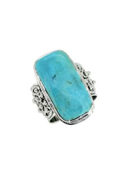 Blue Mohave Turquoise Solid 925 Sterling Silver Gemstone Ring