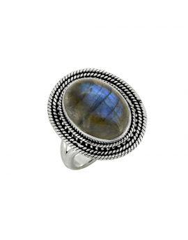 Labradorite Solid 925 Sterling Silver Ring