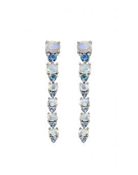 5.33 ct Moonstone Solid 925 Sterling Silver Stud Earrings