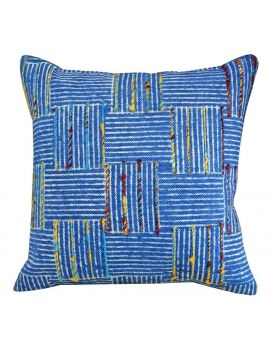 """20"""" x 20"""" Bohemian Style Couch Poly Filled Decorative Throw Pillow  Blue Indigo"""