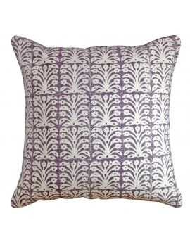 """20"""" x 20"""" Bohemian Floral Couch Poly Filled Decorative Throw Pillow  Purple"""
