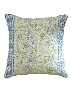 """Bohemian Floral Couch Poly Filled Decorative Throw Pillow  20"""" x 20""""   Green"""