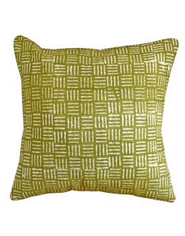 """Bohemian Style Couch Poly Filled Decorative Throw Pillow  20"""" x 20""""   Green"""