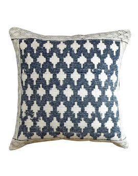 """Decorative Geometry Throw Pillow Outdoor Sofa Bed Poly Filled Accent Couch   20"""" x 20""""  Black"""