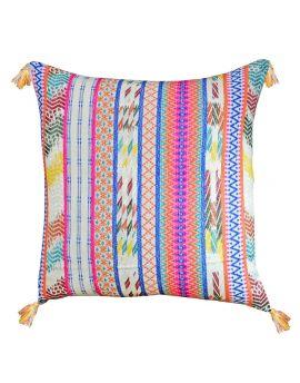"Bohemian Cotton Jacquard Poly Filled Decorative Throw Pillow  20"" x 20""   Retro Colors"