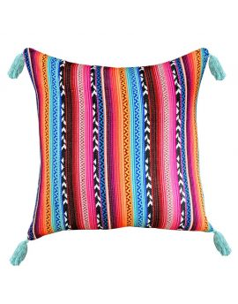 """Tribal Bohemian Retro Poly Filled Decorative Accent Throw Pillow  20"""" x 20"""""""