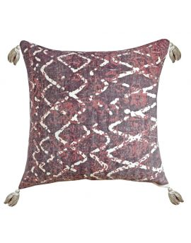 """Printed Rug Poly Filled Decorative Throw Pillow  20"""" x 20""""  Walnut"""