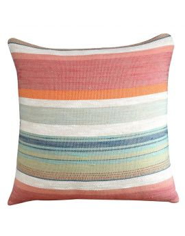 """Luxury Jacquard Poly Filled Decorative Throw Pillow  20"""" x 20""""  RedMulti"""