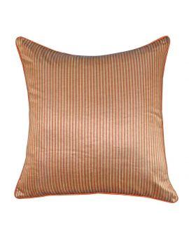 "20"" x 20"" Orange Geometry Bohemian Style Stripe Poly Filled Decorative Throw Pillow"
