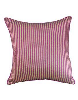 "20"" x 20"" Purple Geometry Bohemian Style Stripe Poly Filled Decorative Throw Pillow"