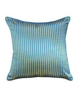 "20"" x 20"" Blue Geometry Bohemian Style Stripe Poly Filled Decorative Throw Pillow"