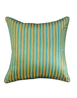 """Geometry Bohemian Style Stripe Poly Filled Decorative Throw Pillow  20"""" x 20""""  Turquoise"""