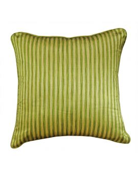 "20"" x 20"" Green Geometry Bohemian Style Stripe Poly Filled Decorative Throw Pillow"