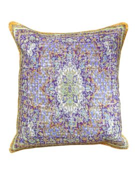 """Vintage Floral Persian Bohemian Style Poly Filled Decorative Throw Pillow  20"""" x 20""""  Violet"""