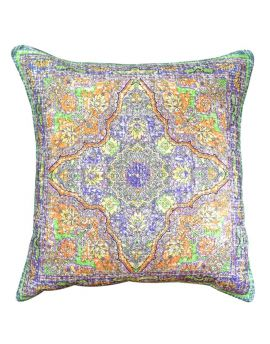 """Tribal Floral Persian Bohemian Style Poly Filled Decorative Throw Pillow  20"""" x 20""""  GreenMulti"""