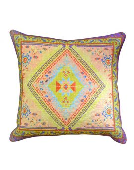 """20"""" x 20"""" Bohemian Style Couch Bed Home Decor Poly Filled Throw Pillow  GreenPeach"""