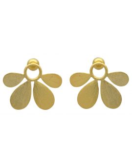 Gold Plated Over Brass Earrings Jewelry