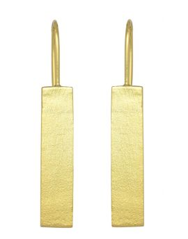Gold Plated Over Brass Large Earrings Jewelry