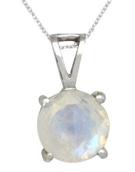 Rainbow Moonstone Solid 925 Sterling Silver Gemstone pendant