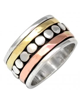 925 Sterling Silver Brass Copper Band Ring Silver Jewelry