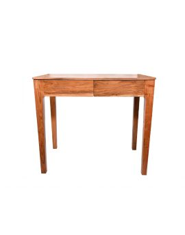 Solid Acacia Wood Bed Side Table with 2 Drawer