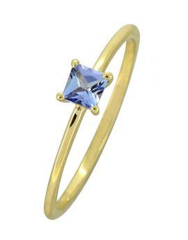 Tanzanite Solid 10K Yellow Gold Gemstone Ring