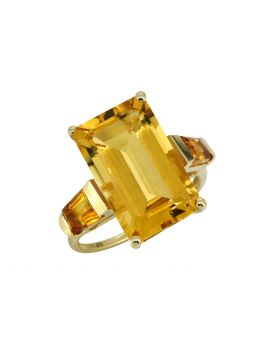 9.63 ct Citrine Solid 14k Gold Gemstone Ring