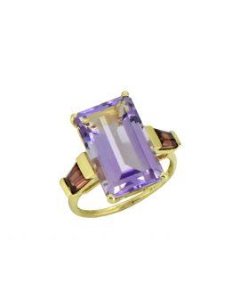 9.63 ct Pink Amethyst Solid 14k Gold Gemstone Ring