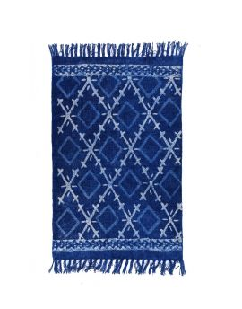 Embroidery Cotton Dhurrie Rug