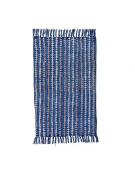 Cotton Dhurrie Rug with Embroidery