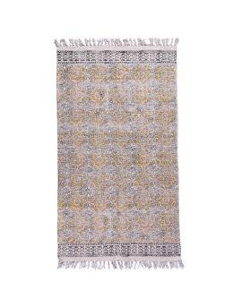Brown Cotton Dhurrie Rug Y-RU-10023