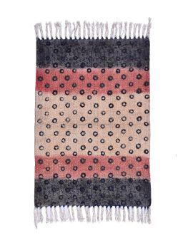 Cotton Dhurrie Rug Base Gold Color Y-RU-10027